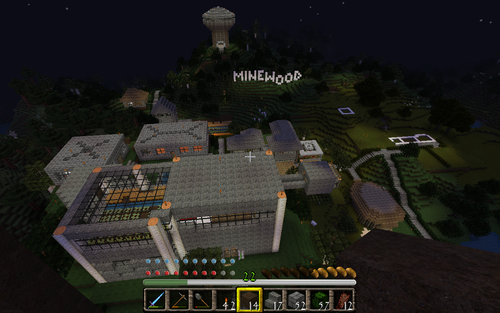 MineWood at Night.